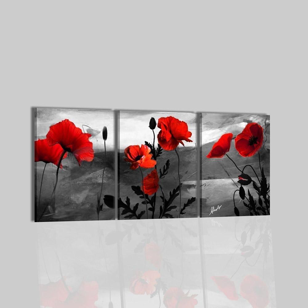 Camera Da Letto Trittico : Quadri moderni trittici dipinti a mano con fiore casilda