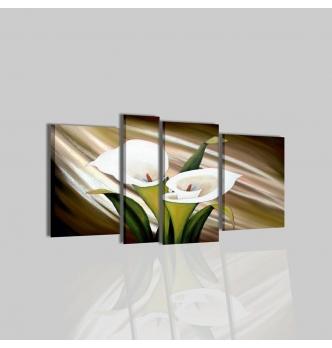 SESEN - Pinturas modernas con flores marrones