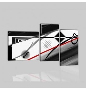 NAVIS - Cuadros abstractos en blanco y negro