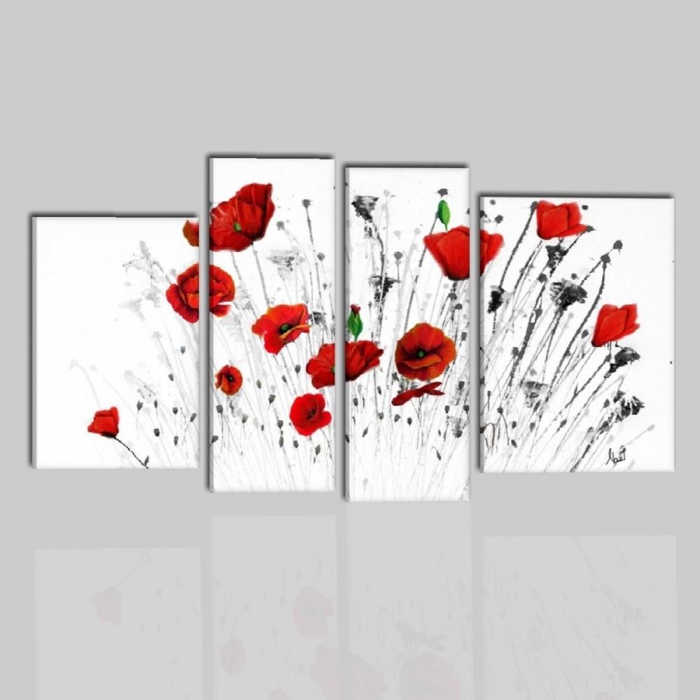 Quadri con fiori con papaveri rossi - Nicos