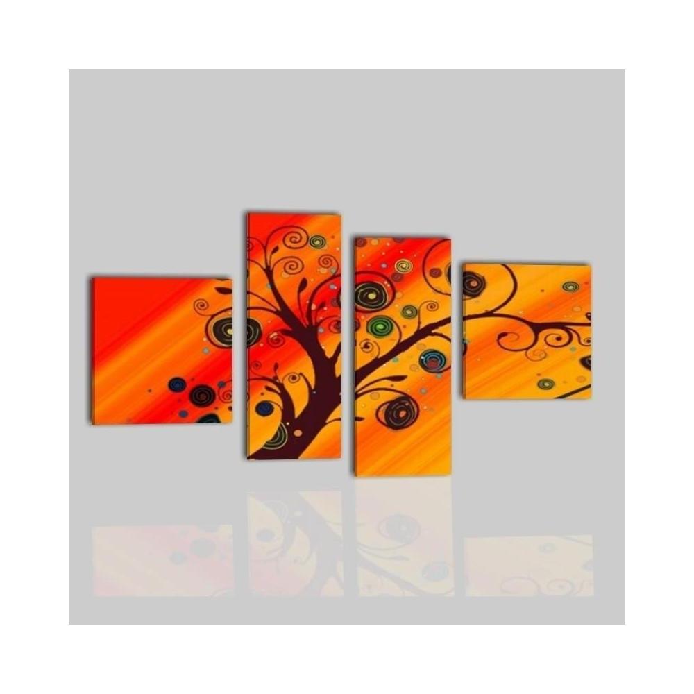 quadri moderni 4 pannelli pegaso