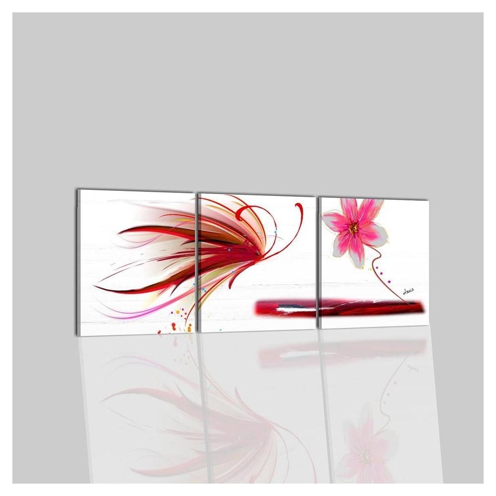 Quadri moderni con fiori dipinti a mano acrilico su tela per salone ...