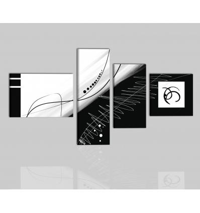 ZIRCONE - Cuadros abstractos blanco y negro
