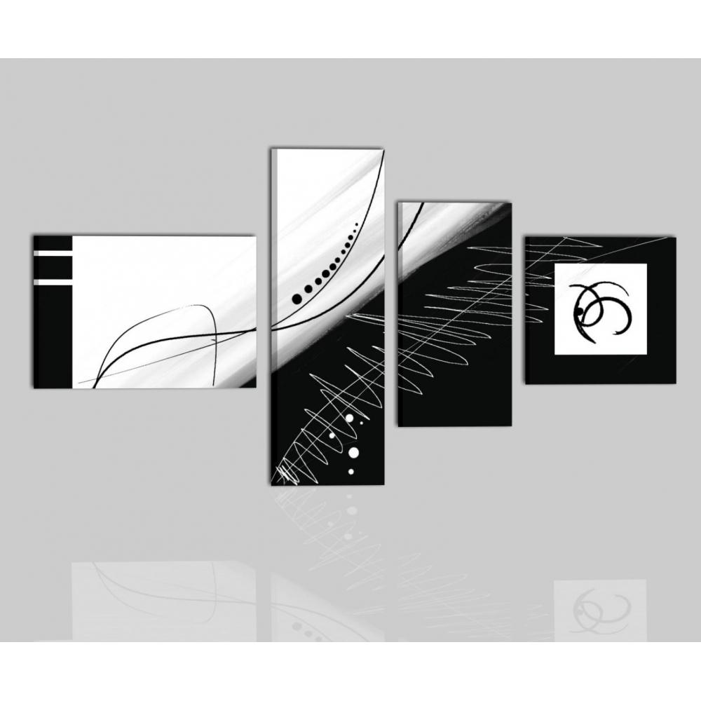 Cuadros ambastractos blanco y negro zircone - Cuadros modernos blanco y negro ...