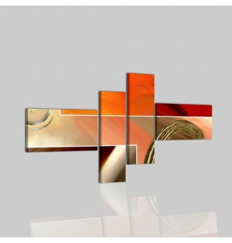 ELETTA - Quadri astratti arancio e grigio