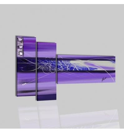 ANCILLA - Cuadros modernos pintados a mano violeta