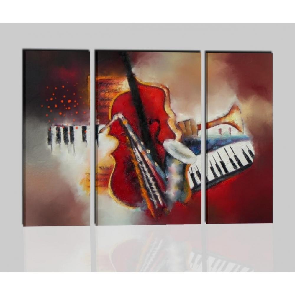 Quadri moderni musica strumenti i colori della musica for Quadri trittici moderni