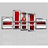 CAMILLA - Cuadros abstractos rojo y blanco