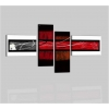 ABEM - Quadri moderni rosso nero