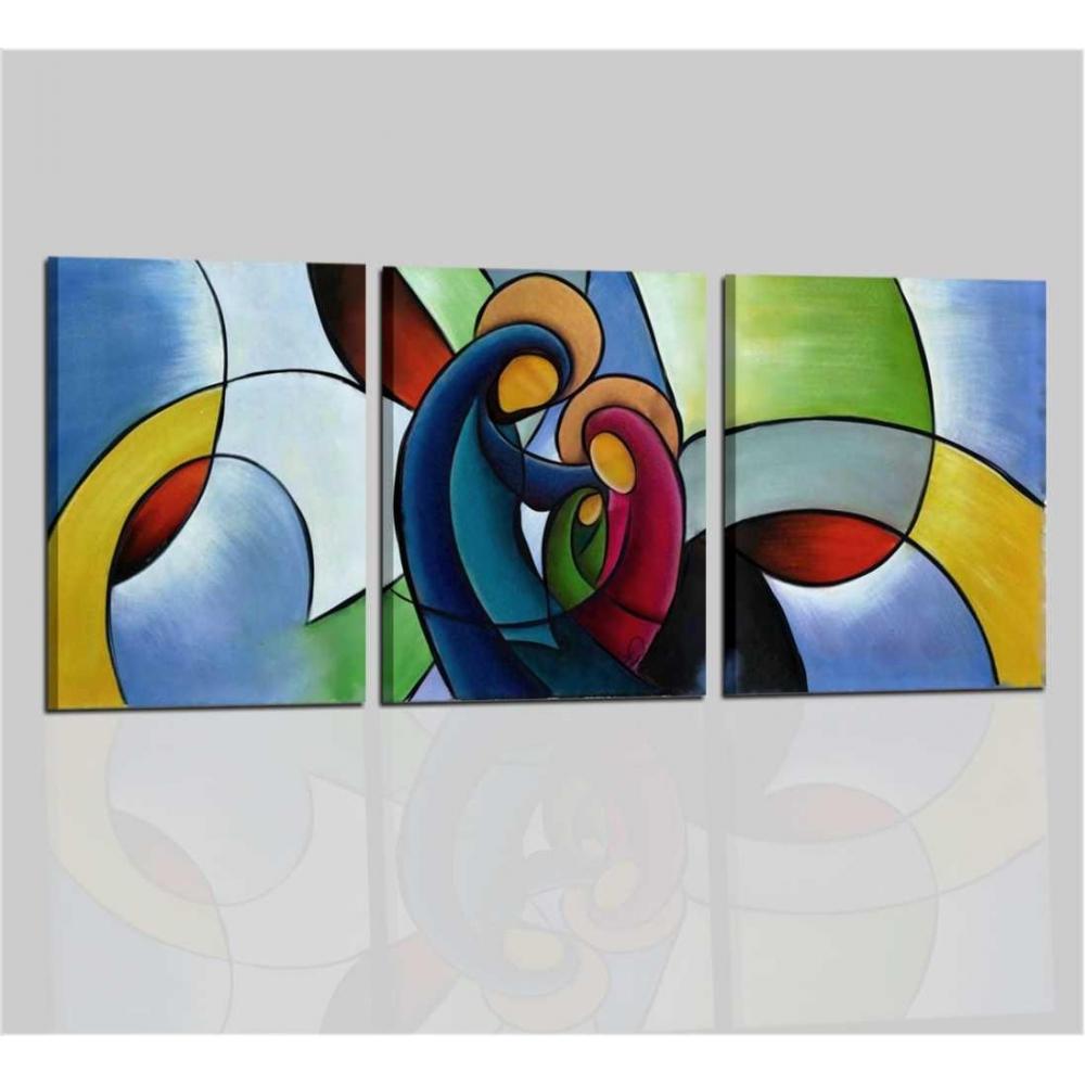 Quadri moderni capoletti per camera da letto dipinti a mano - Sacra ...