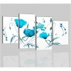 ARABELLA - Quadri moderni con fiori in azzurro