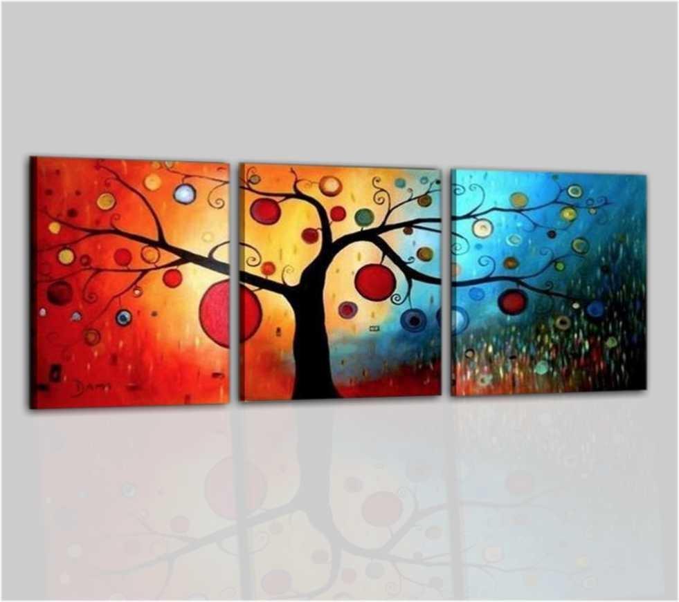 quadri moderni a pannelli albero dei sogni