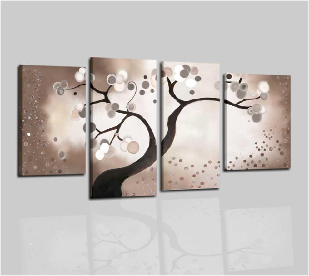 Quadri moderni con albero marrone vandy for Quadri particolari moderni