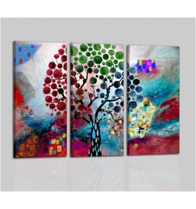 AKIA -  trittico di quadri moderni colorati