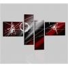 PAMIES - Cuadros abstractos rojo y negro