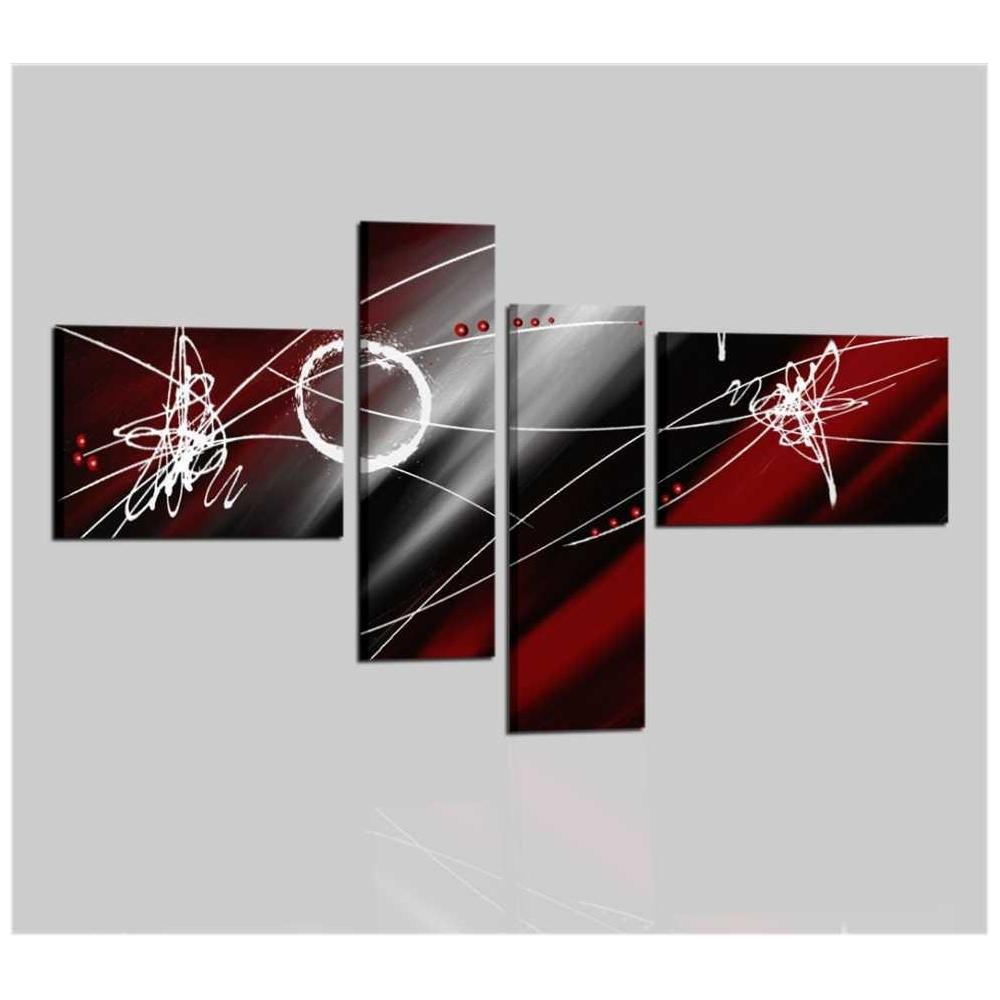 Cuadros Abstractos Rojo Y Negro Pamies