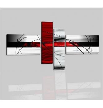 GUANTANAMO - Cuadros moderno gris y rojo