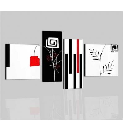 GRECALE - Quadri moderni bianco e nero