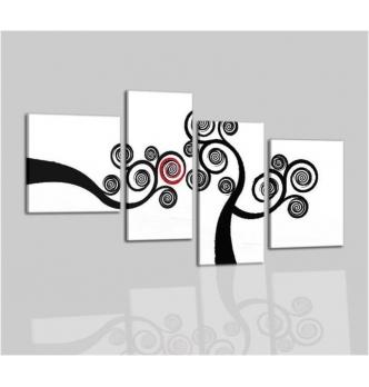 ACILIA - Quadri moderni bianco e nero