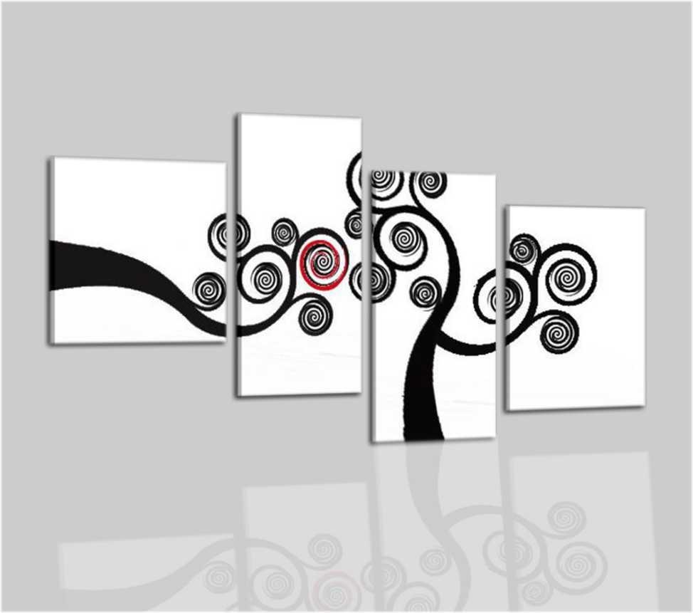 Quadri moderni con albero bianco e nero Acilia