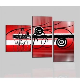 DANA - Cuadros abstractos rojo