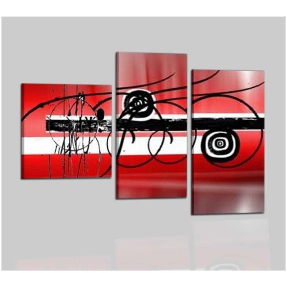 quadri astratti componibili a tre pannelli trittico