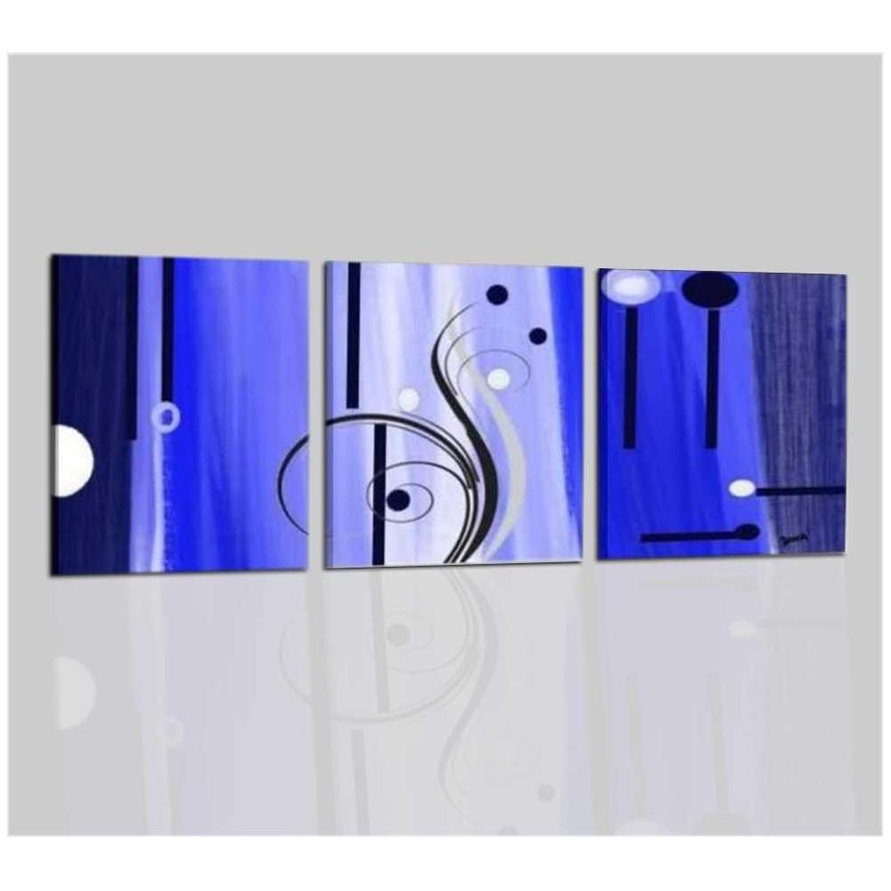 Quadri moderni astratti dipinti a mano blu azzurro per for Quadri astratti dipinti a mano
