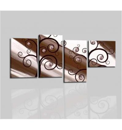 QUEEN - Dipinti astratti bianco marrone