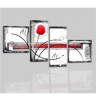 SPERANZA - Cuadros modernos rojo blanco negro