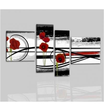 Quadri astratti moderni fiori edy for Quadri fiori stilizzati
