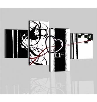 MALIBU - Cuadros modernso blanco y negro