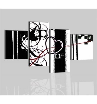 MALIBU - Quadri moderni bianco e nero