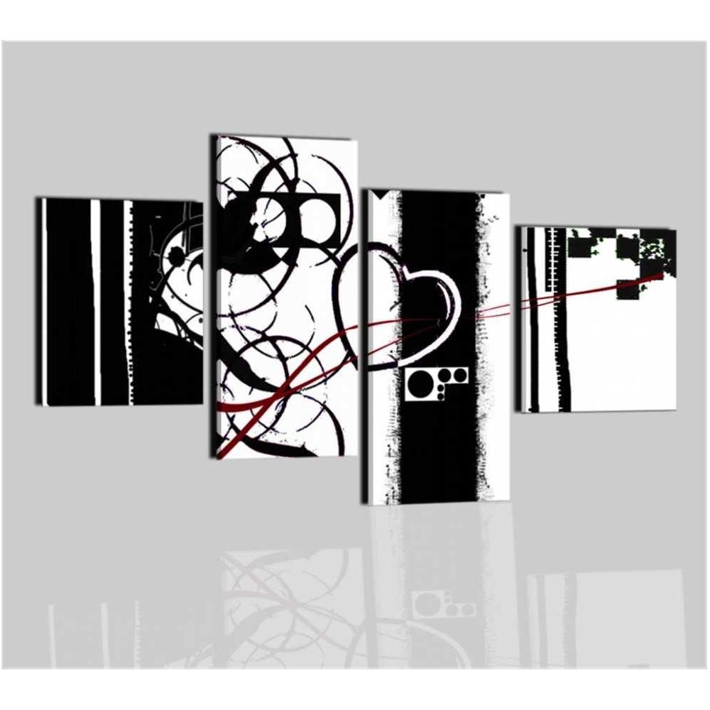 Quadro moderno in bianco e nero malibu for Quadri in bianco e nero moderni