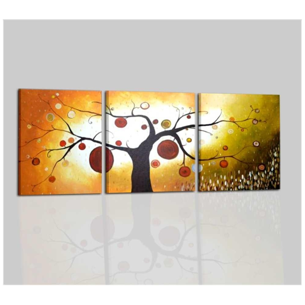 Quadro trittico con albero for Quadri trittici moderni