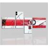 VENTO - Cuadros abstractos blanco y rojo