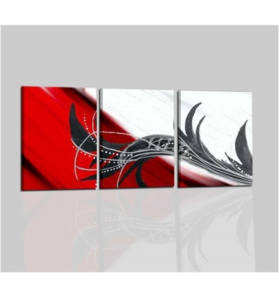 SAVANNA - Quadri moderni rosso bianco