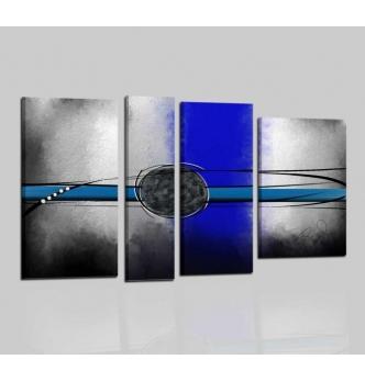 ROBYN - Cuadros abstractos gris y blu