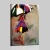 Mujer pinturas figurativas  hecho a mano - donna con ombrello