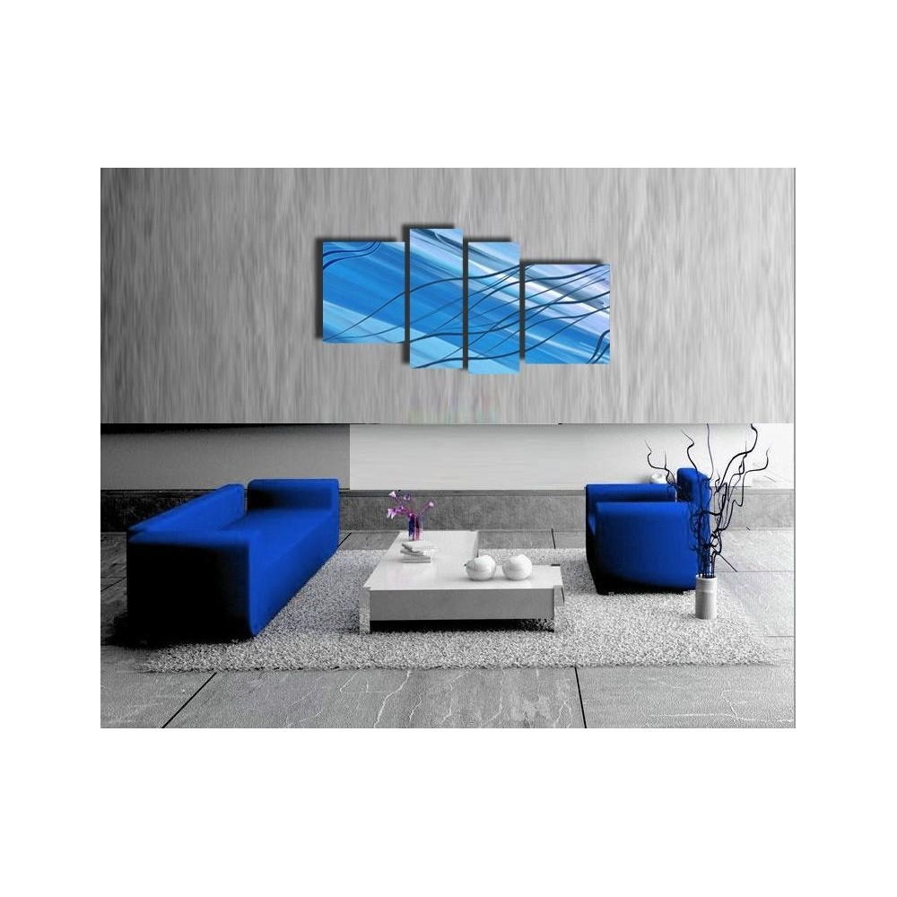 quadri astratti per arredamento azzurro anita