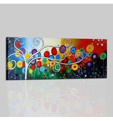 FELICITA' 3 - Quadri moderni stilizzati colorati