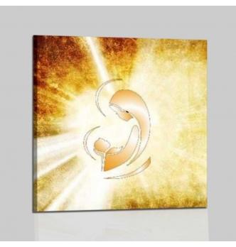 MADONNA CON BAMBINO - Quadri capoletto religioso