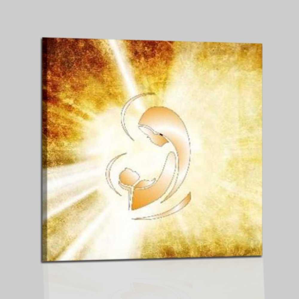 Cuadro religioso virgen con jesus - Cuadro para dormitorio ...