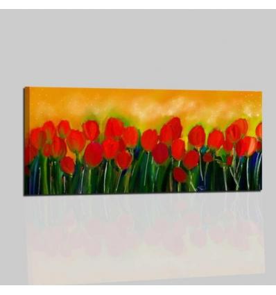 Quadri moderni dipinti a mano con fiori - TULIPANI