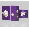 LOGOS - Quadri astratti con fiori viola