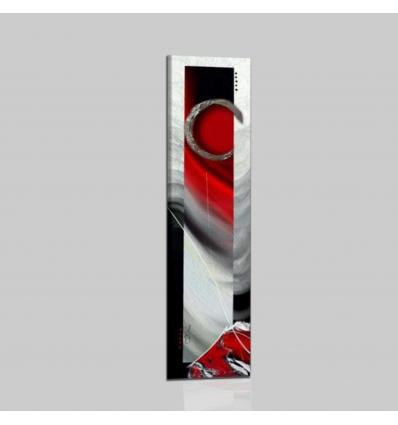 RUBIN - Quadro astratto verticale rosso nero