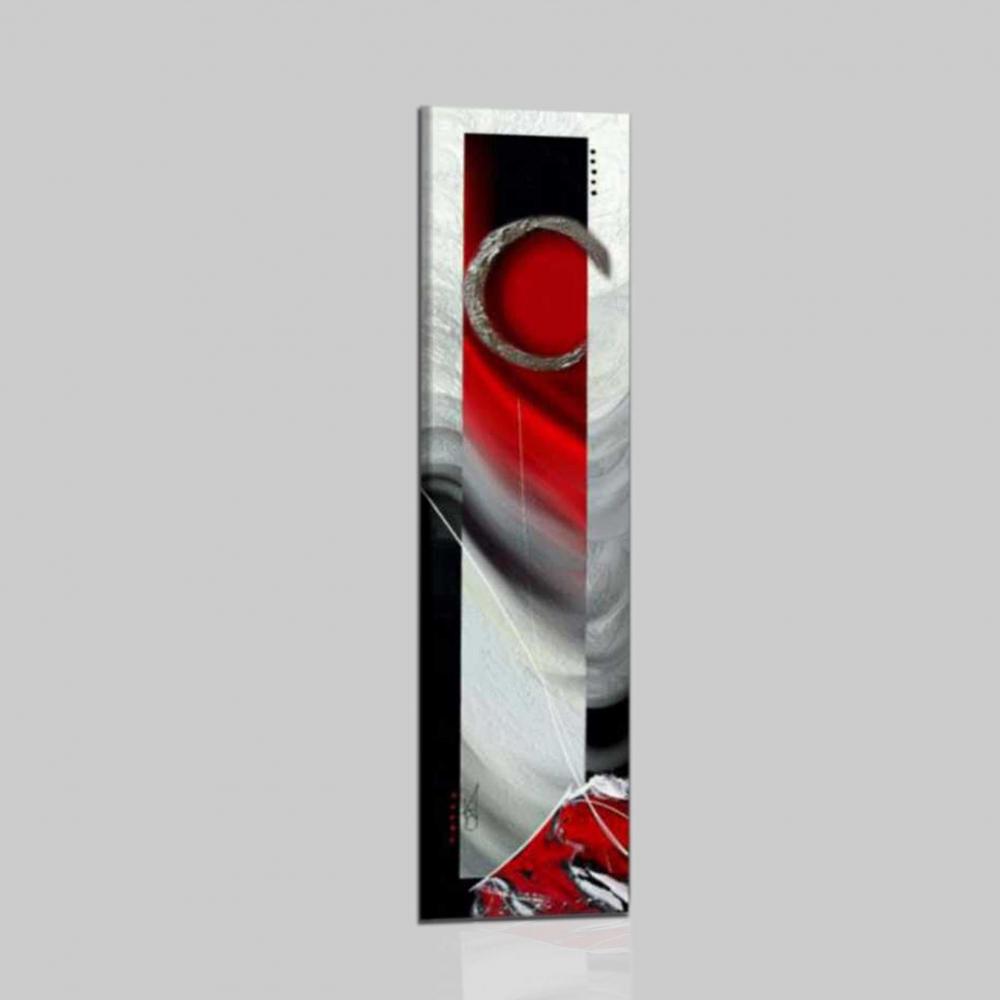 Un quadro astratto verticale molto decorativo rubin - Cuadros verticales modernos ...