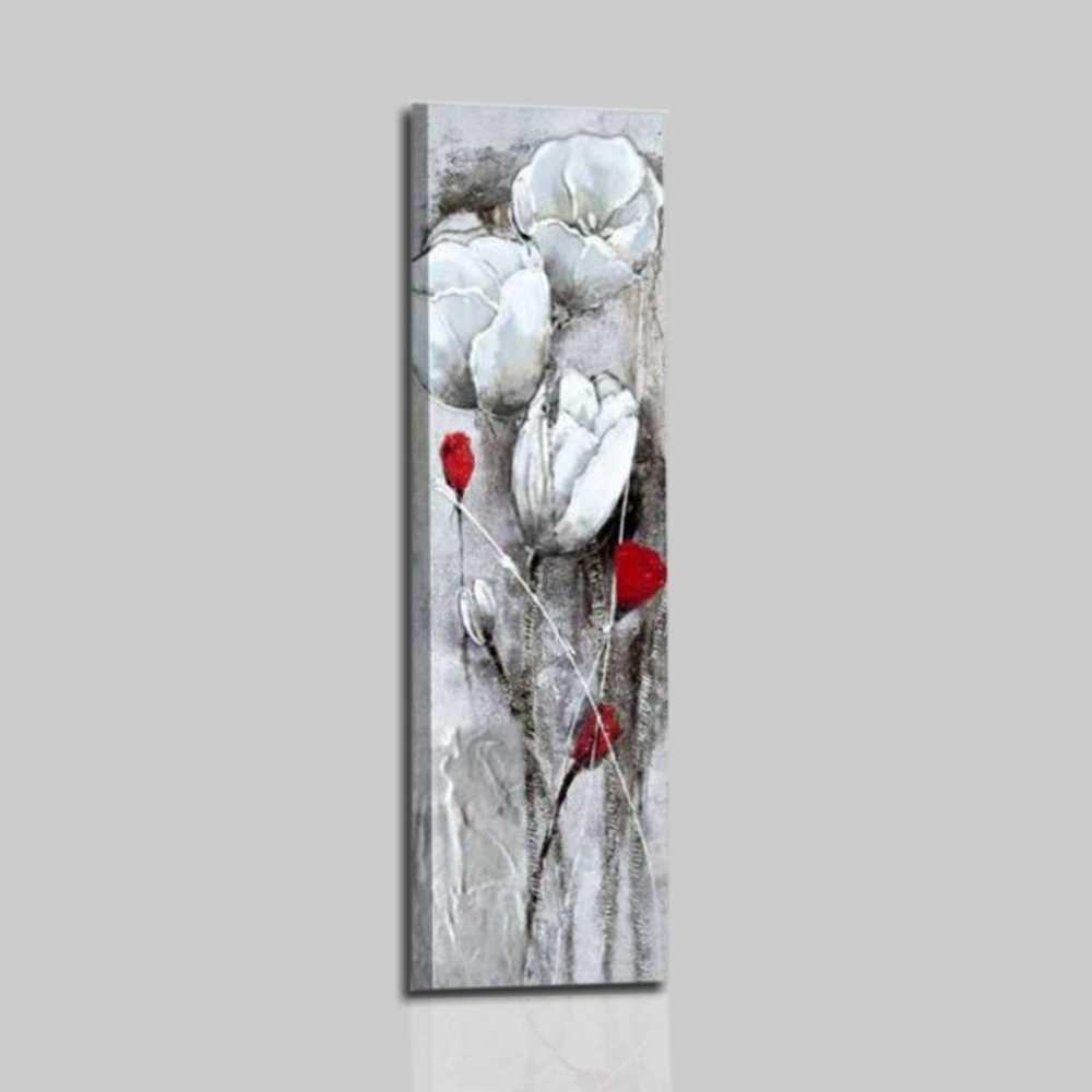 Quadri moderni con fiori - Bianco e nero
