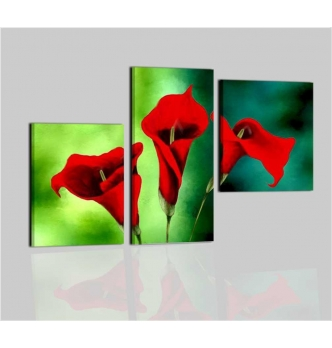 DELISIA - Modern painting green red