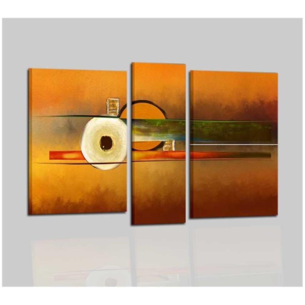 Quadri moderni astratti dipinti a mano arancione - Elsa