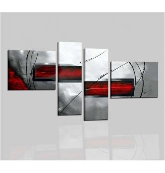 SUZY - Quadri astratti grigio e rosso